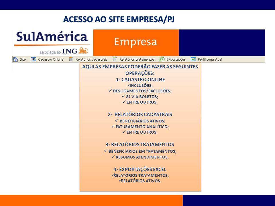 ACESSO AO SITE EMPRESA/PJ