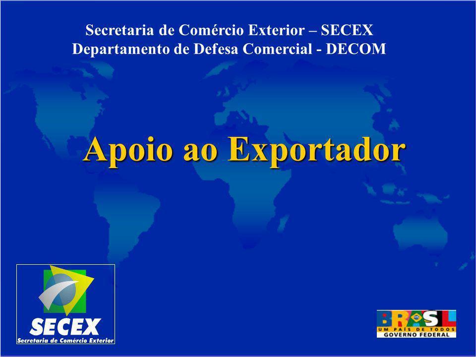 Apoio ao Exportador Secretaria de Comércio Exterior – SECEX