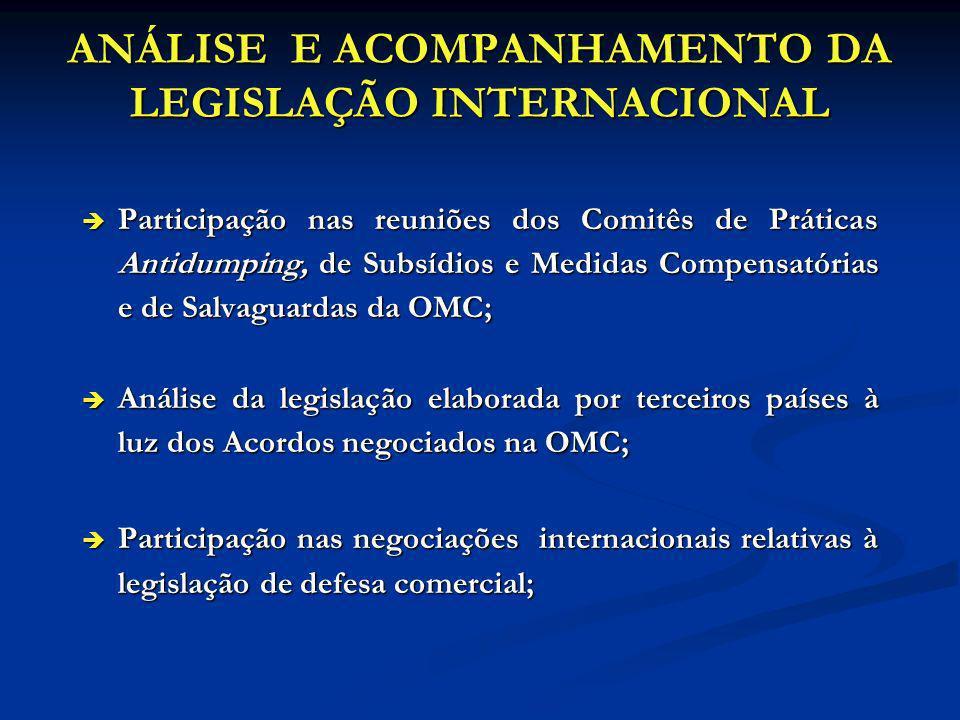 ANÁLISE E ACOMPANHAMENTO DA LEGISLAÇÃO INTERNACIONAL