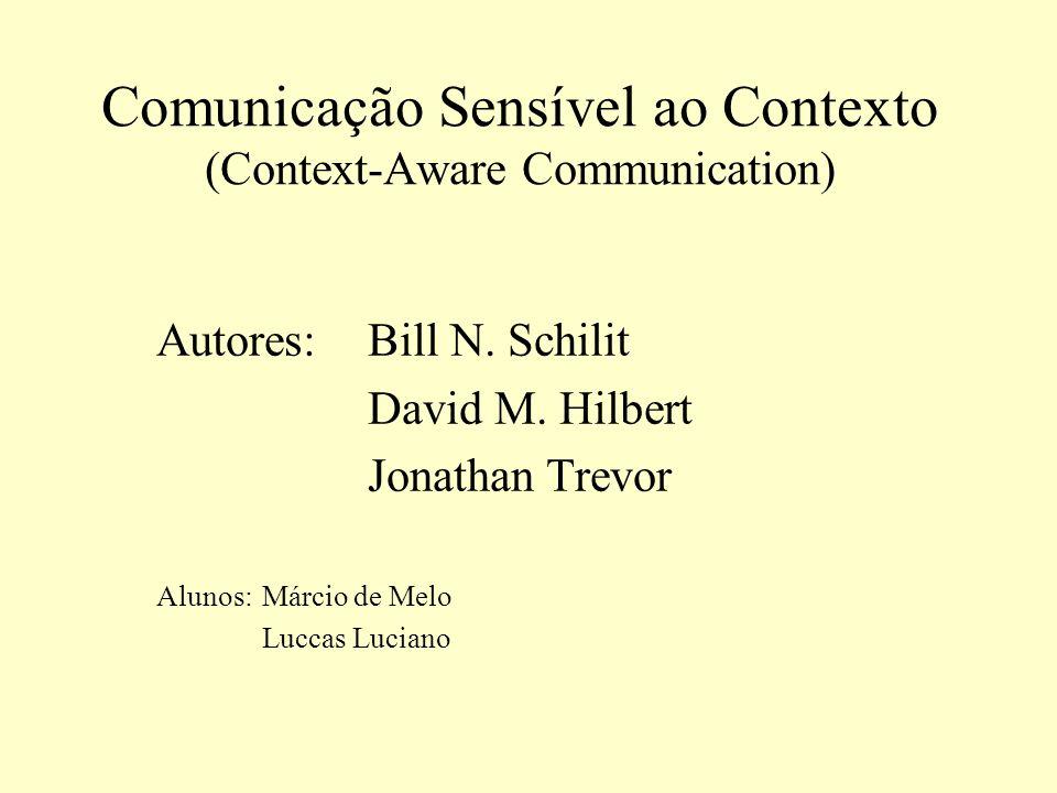 Comunicação Sensível ao Contexto (Context-Aware Communication)