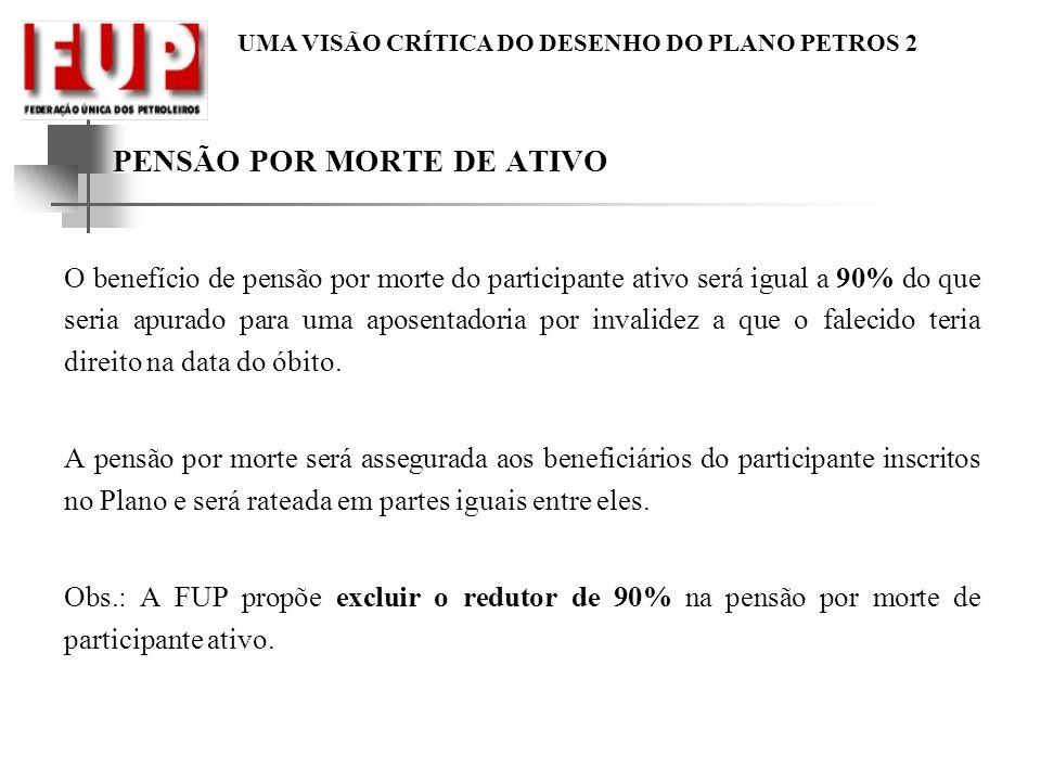 PENSÃO POR MORTE DE ATIVO