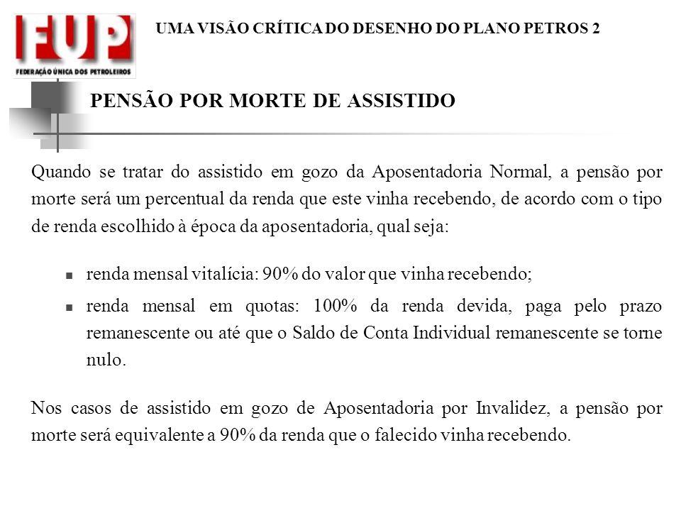 PENSÃO POR MORTE DE ASSISTIDO