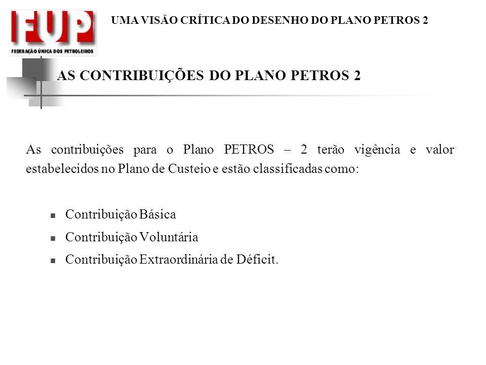 AS CONTRIBUIÇÕES DO PLANO PETROS 2