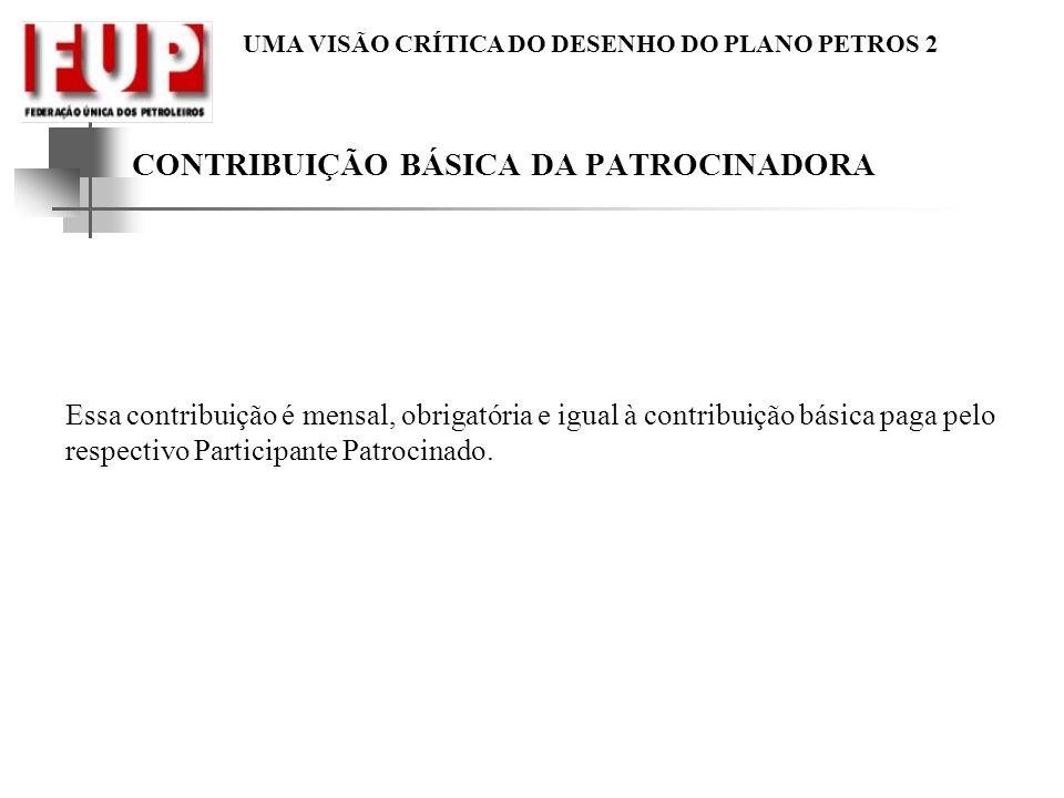 CONTRIBUIÇÃO BÁSICA DA PATROCINADORA