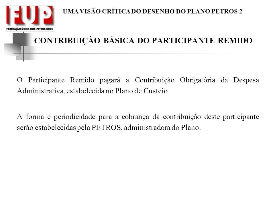 CONTRIBUIÇÃO BÁSICA DO PARTICIPANTE REMIDO