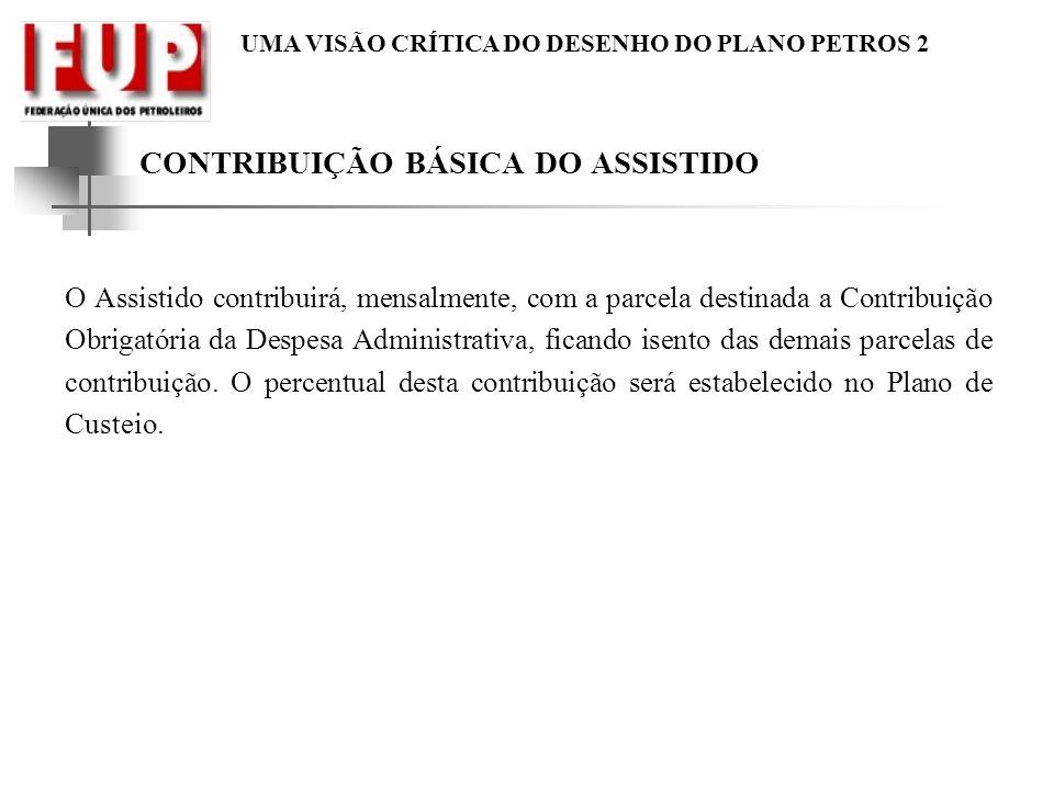 CONTRIBUIÇÃO BÁSICA DO ASSISTIDO