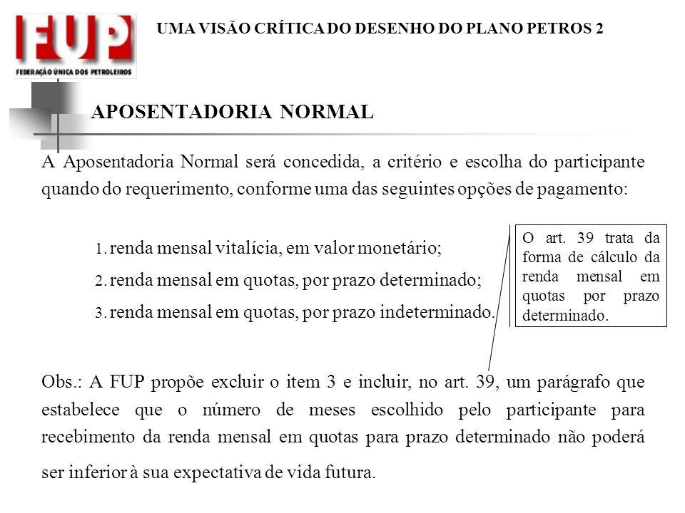 APOSENTADORIA NORMAL