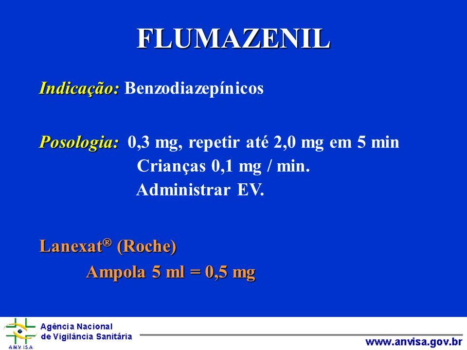 FLUMAZENIL Indicação: Benzodiazepínicos