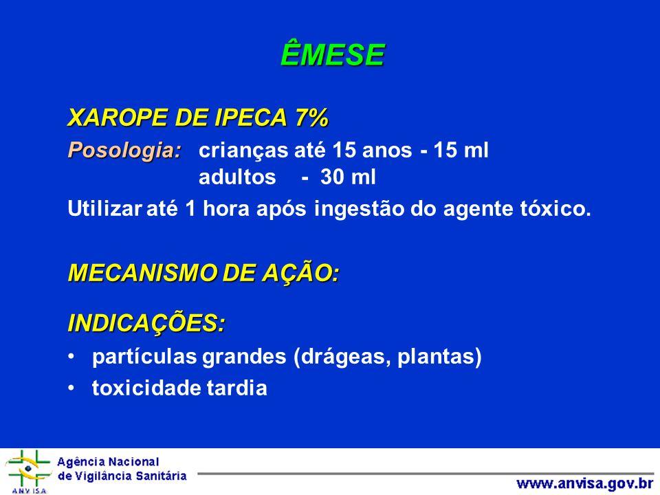ÊMESE XAROPE DE IPECA 7% Via oral MECANISMO DE AÇÃO: local e SNC
