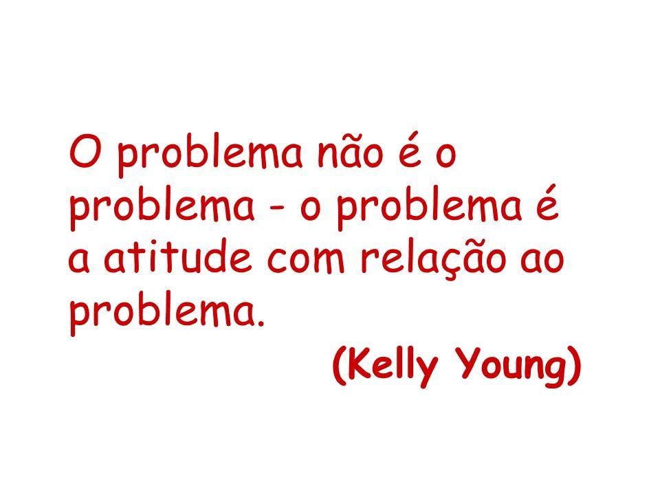 O problema não é o problema - o problema é a atitude com relação ao problema.