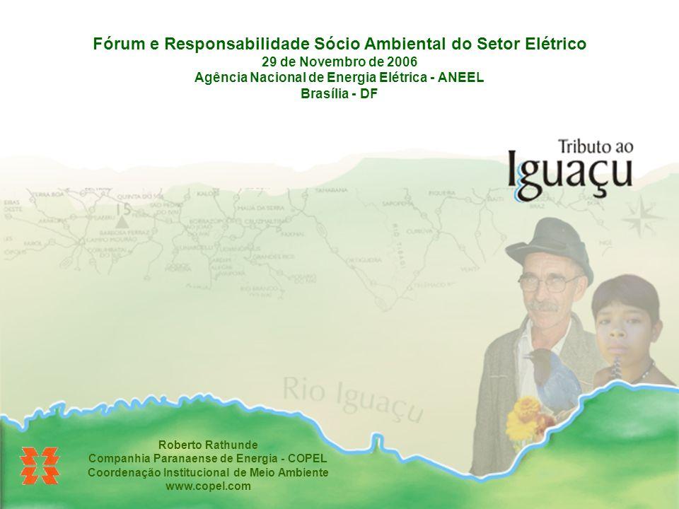 Fórum e Responsabilidade Sócio Ambiental do Setor Elétrico