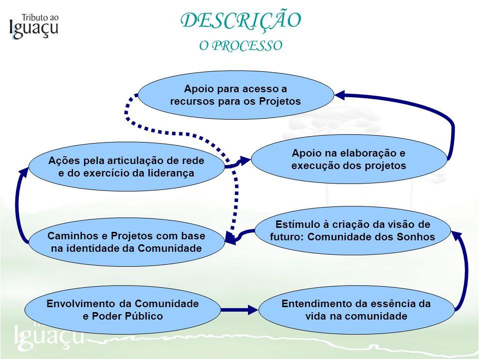 DESCRIÇÃO O PROCESSO Apoio para acesso a recursos para os Projetos