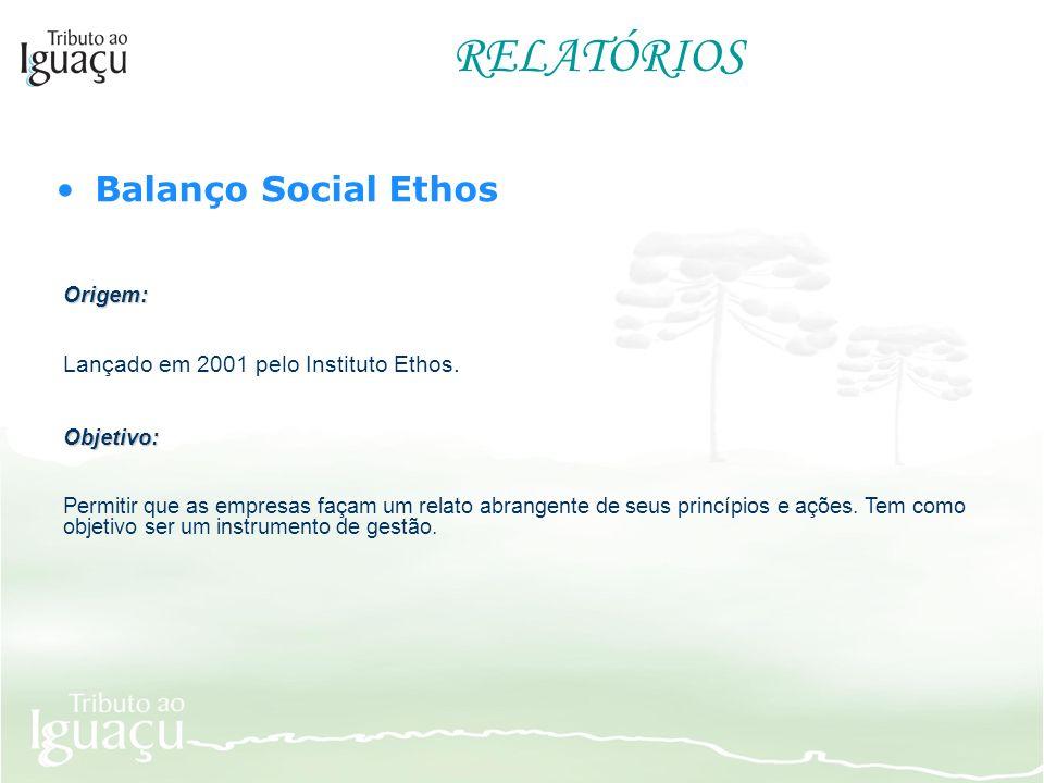 RELATÓRIOS Balanço Social Ethos Origem:
