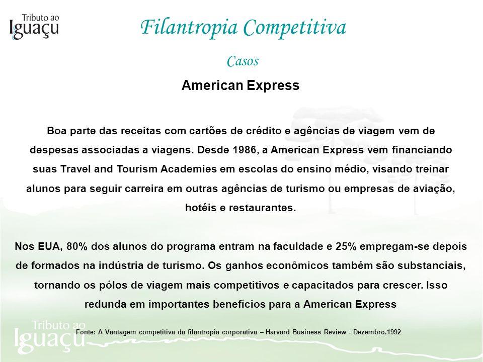 redunda em importantes benefícios para a American Express