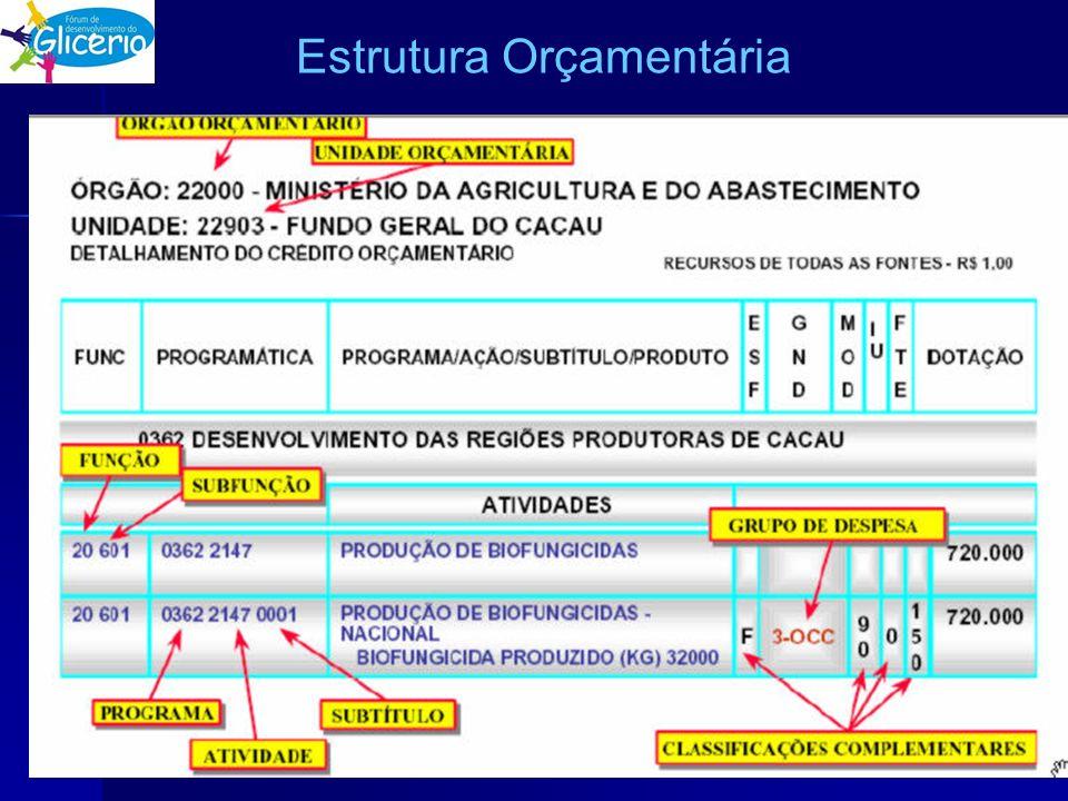 Estrutura Orçamentária