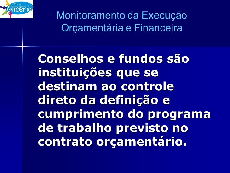 Monitoramento da Execução Orçamentária e Financeira