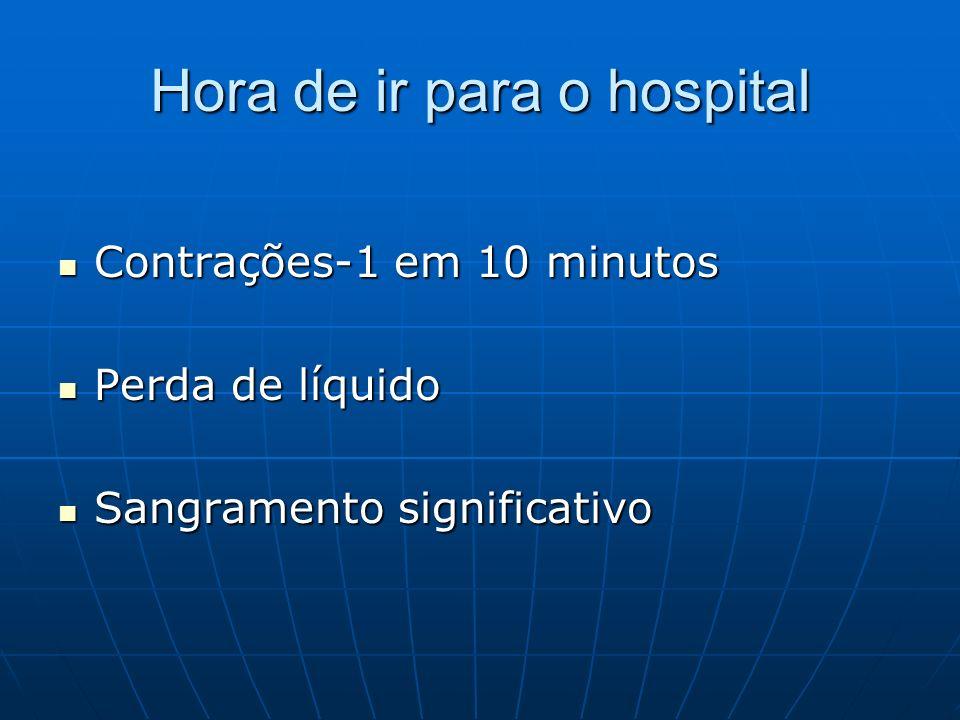 Hora de ir para o hospital
