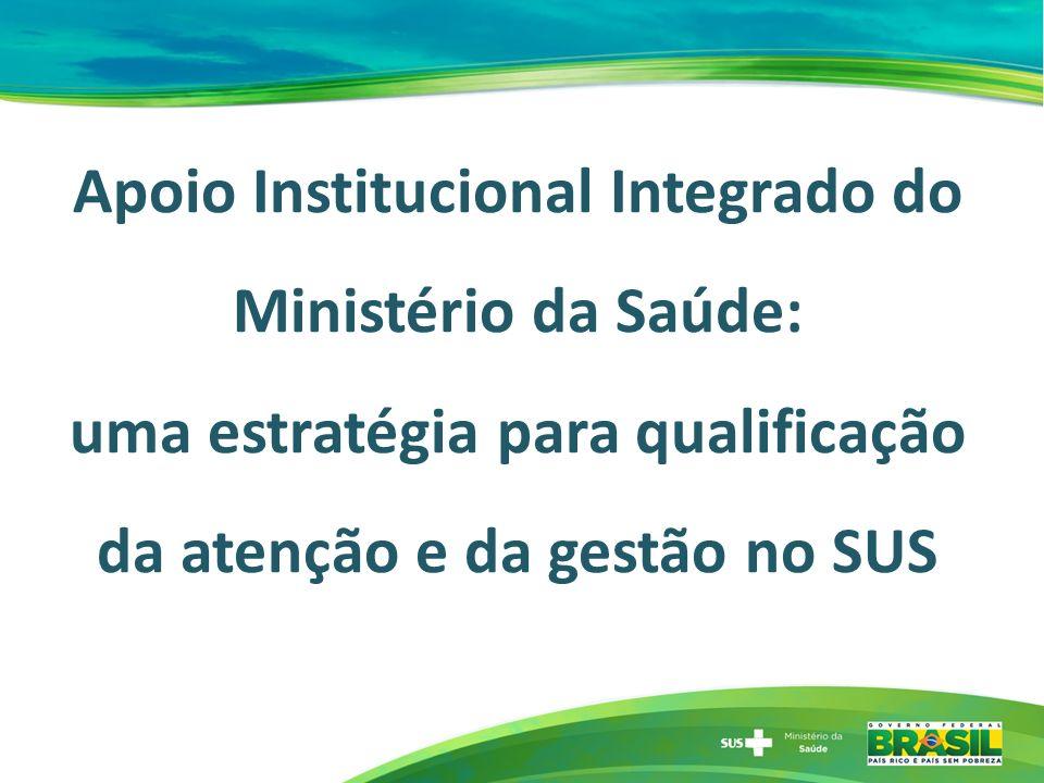 Apoio Institucional Integrado do Ministério da Saúde: uma estratégia para qualificação da atenção e da gestão no SUS