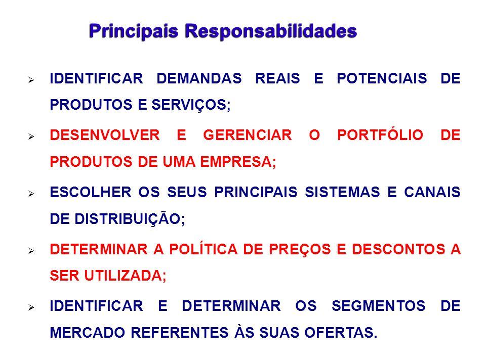Principais Responsabilidades