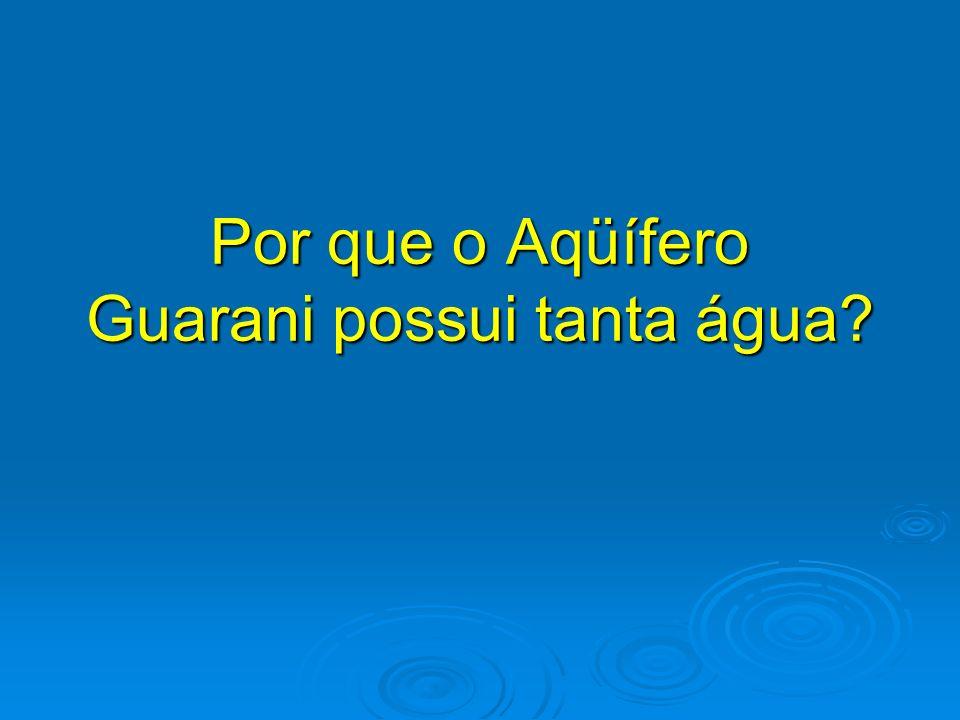 Por que o Aqüífero Guarani possui tanta água