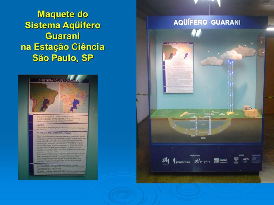 Maquete do Sistema Aqüífero Guarani na Estação Ciência São Paulo, SP