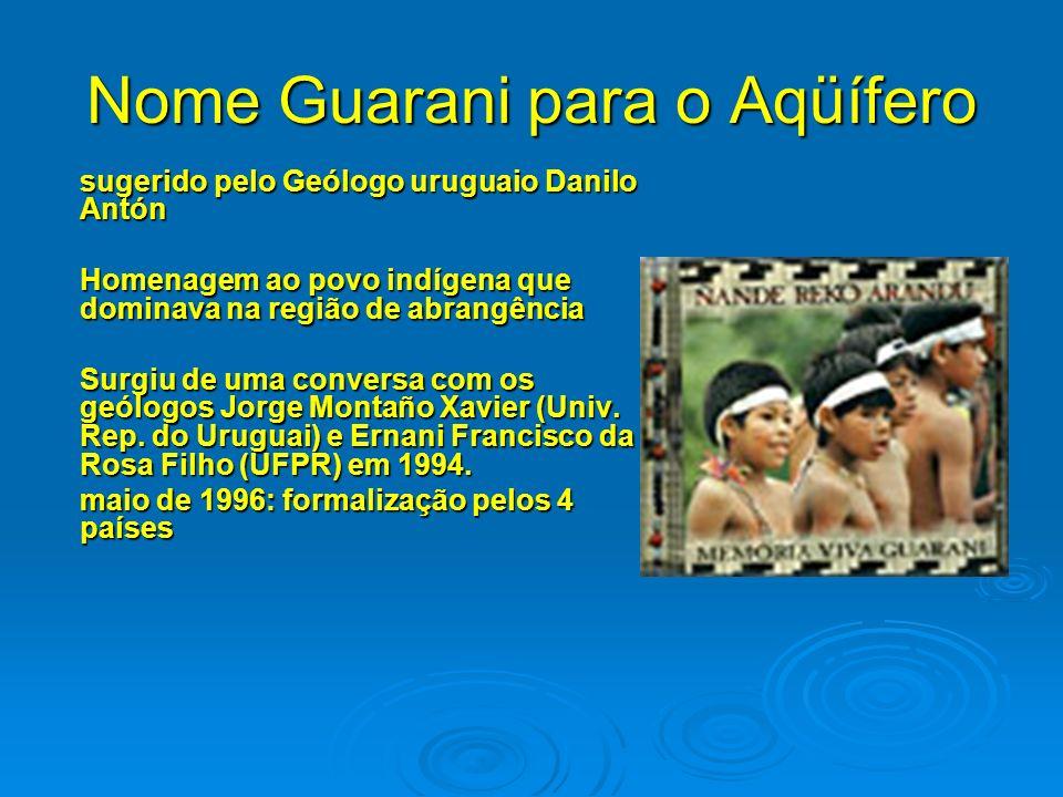 Nome Guarani para o Aqüífero