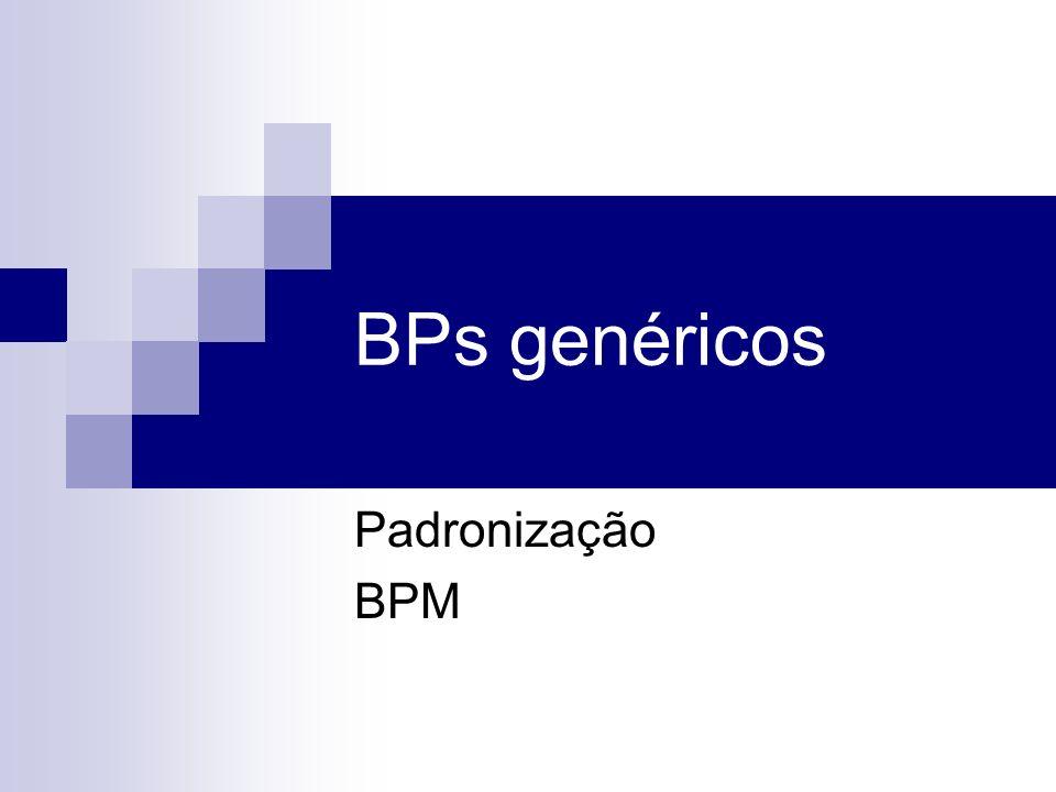 BPs genéricos Padronização BPM