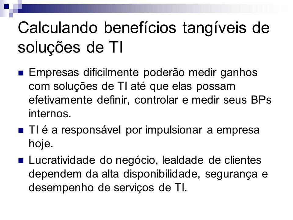 Calculando benefícios tangíveis de soluções de TI