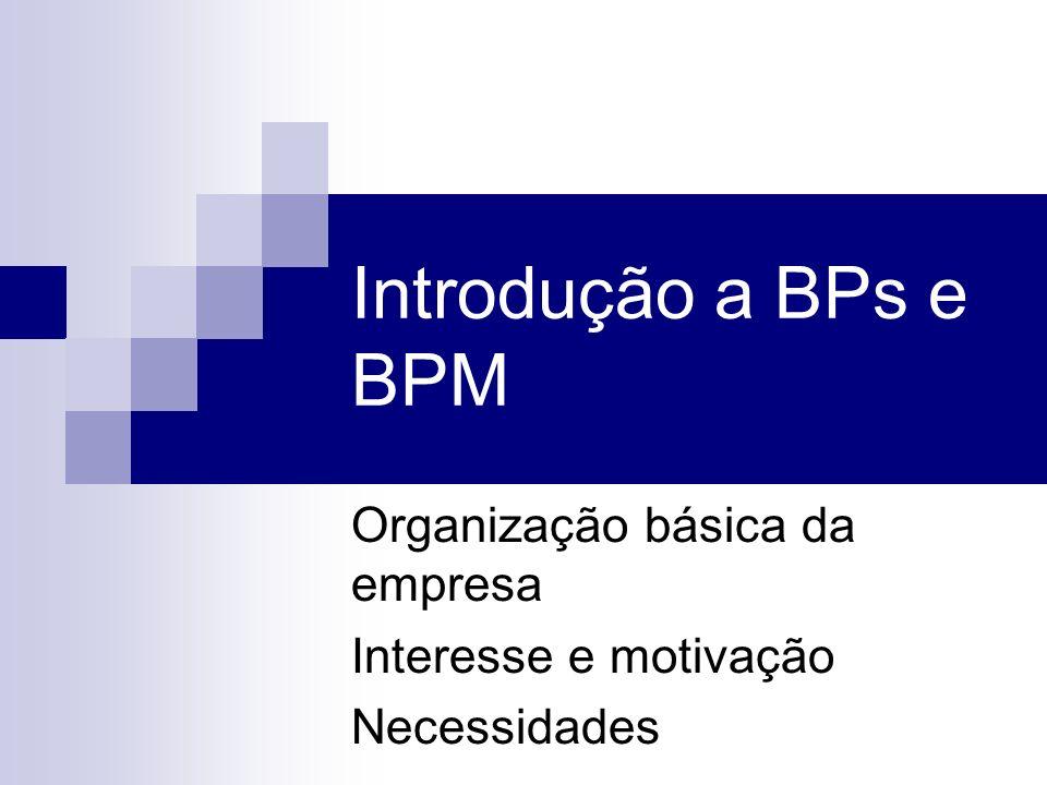 Organização básica da empresa Interesse e motivação Necessidades