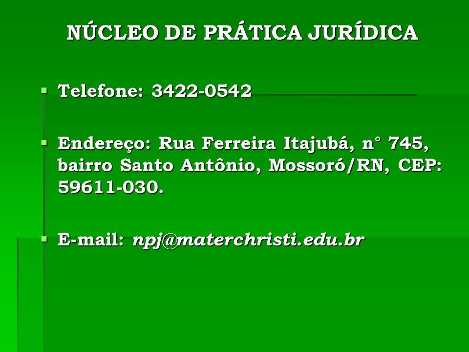 NÚCLEO DE PRÁTICA JURÍDICA