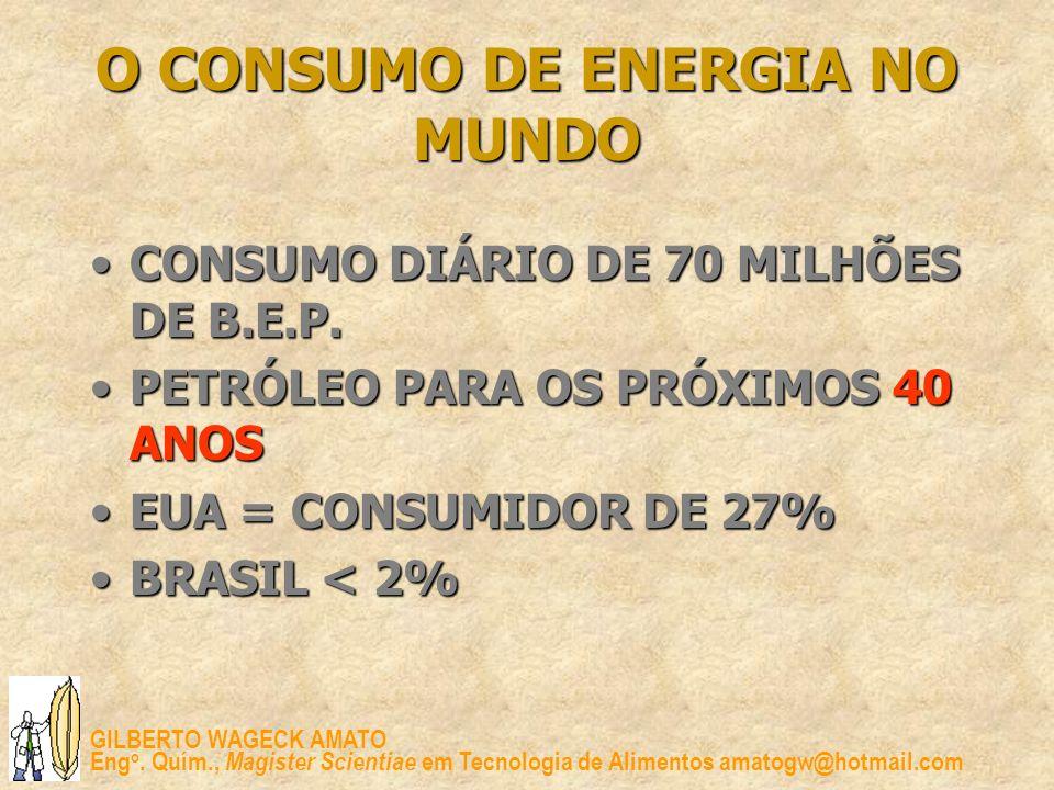 O CONSUMO DE ENERGIA NO MUNDO