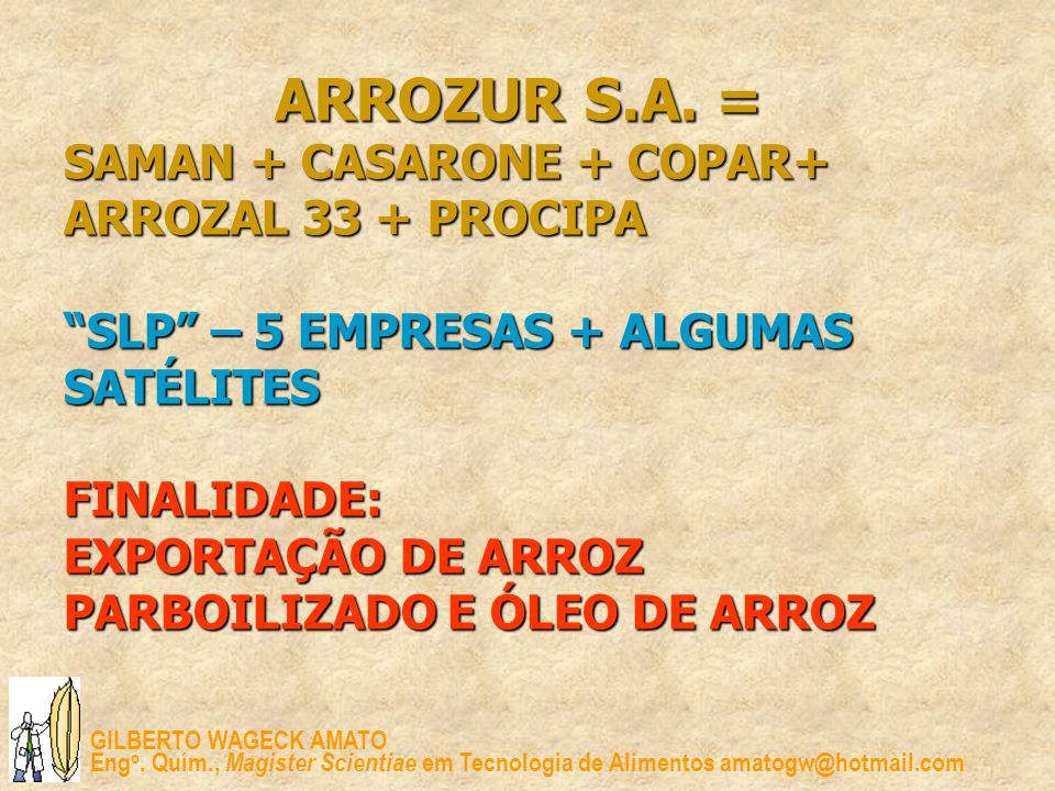ARROZUR S.A.