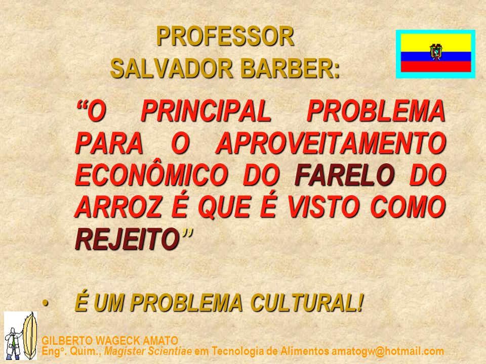 PROFESSOR SALVADOR BARBER: