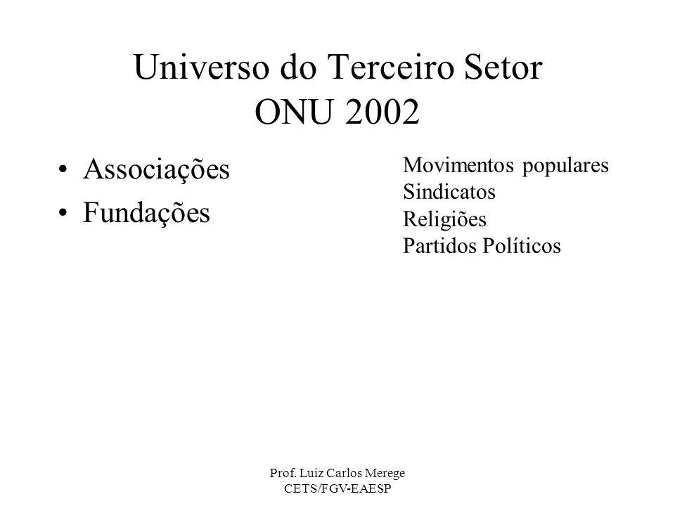 Universo do Terceiro Setor ONU 2002