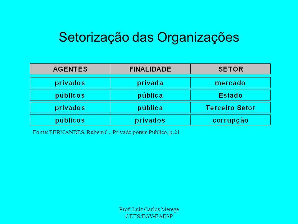 Setorização das Organizações