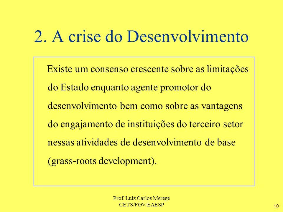 2. A crise do Desenvolvimento