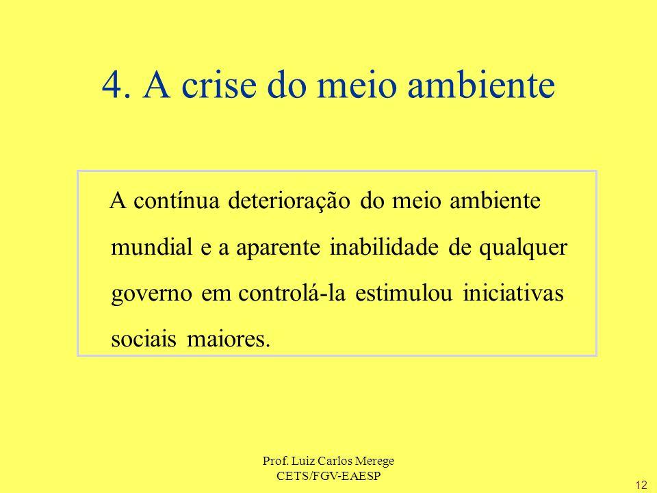 4. A crise do meio ambiente