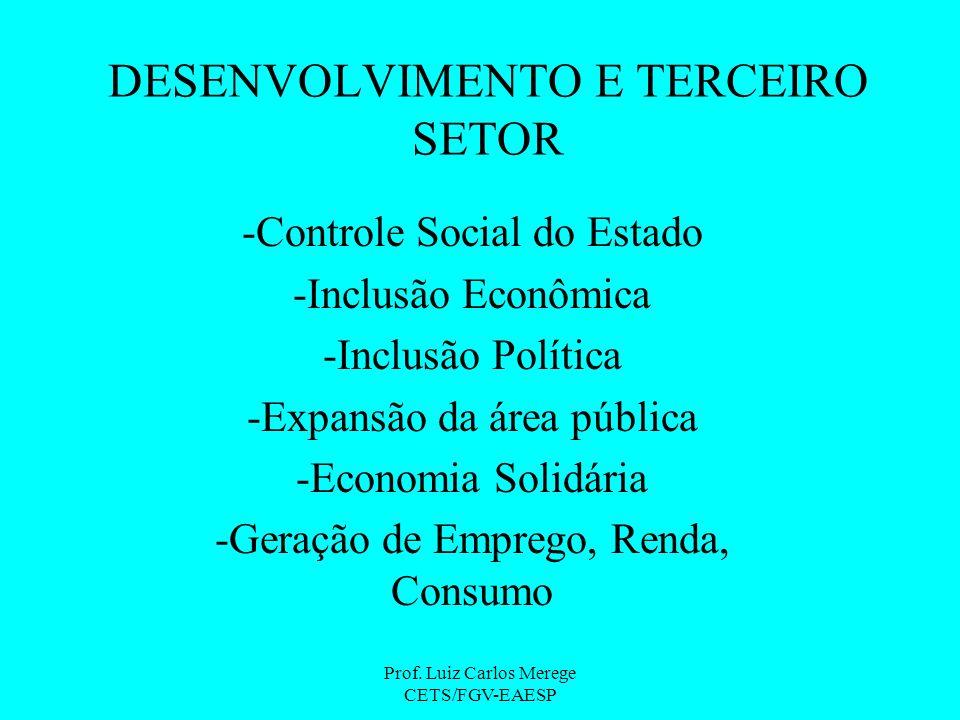 DESENVOLVIMENTO E TERCEIRO SETOR