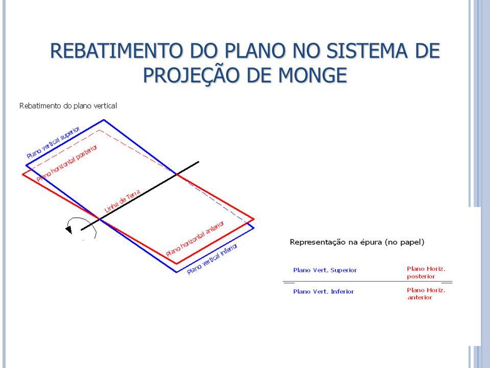 REBATIMENTO DO PLANO NO SISTEMA DE PROJEÇÃO DE MONGE