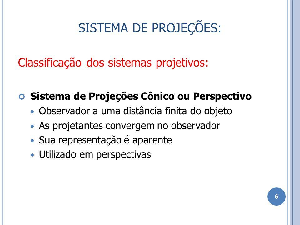 SISTEMA DE PROJEÇÕES: Classificação dos sistemas projetivos: