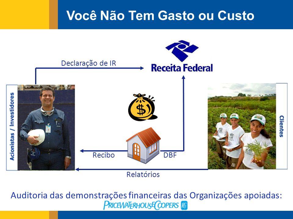 Auditoria das demonstrações financeiras das Organizações apoiadas: