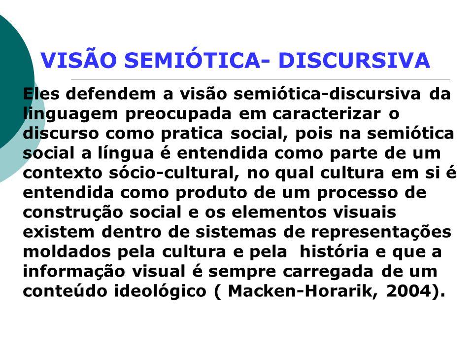 VISÃO SEMIÓTICA- DISCURSIVA