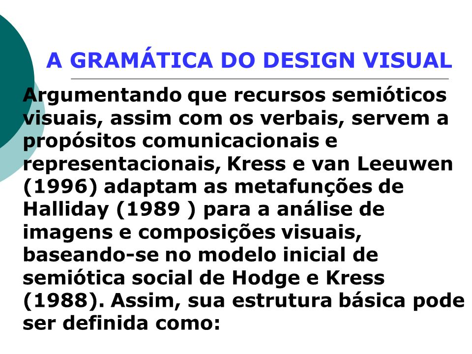 A GRAMÁTICA DO DESIGN VISUAL