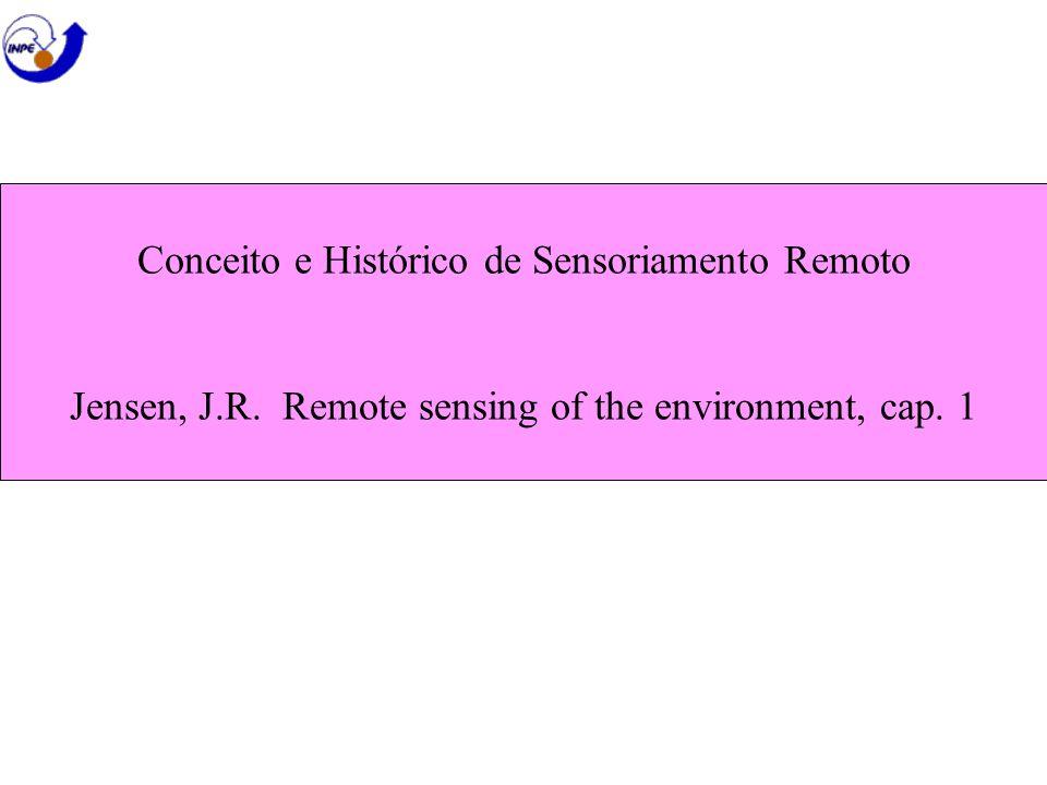Conceito e Histórico de Sensoriamento Remoto Jensen, J. R