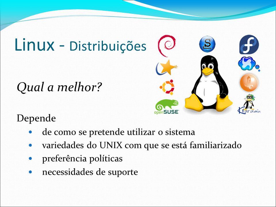Linux - Distribuições Qual a melhor Depende