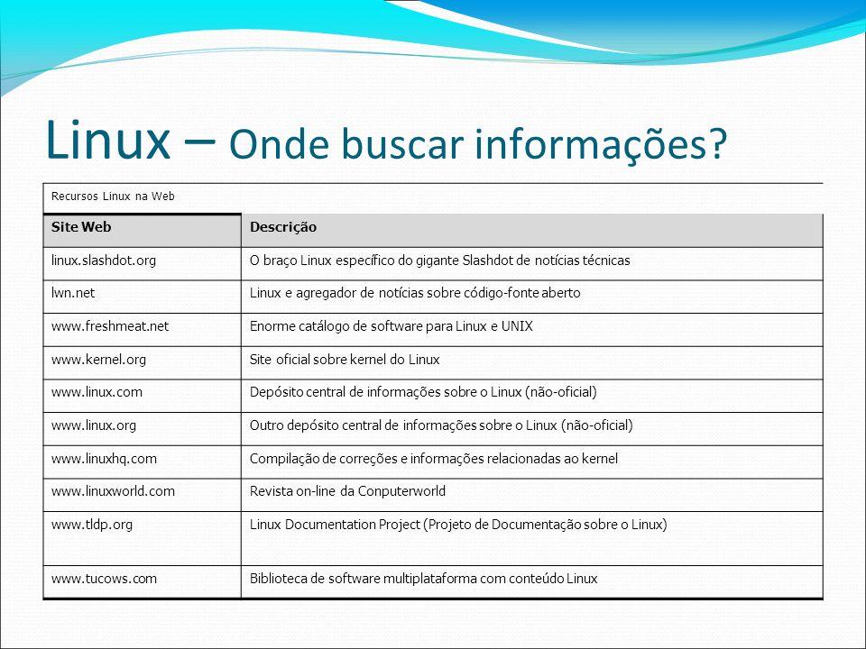 Linux – Onde buscar informações