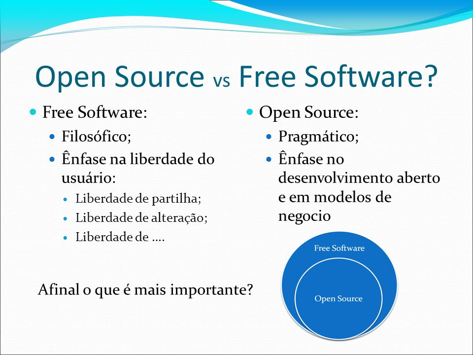 Open Source vs Free Software