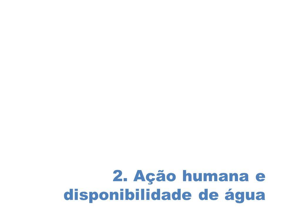 2. Ação humana e disponibilidade de água