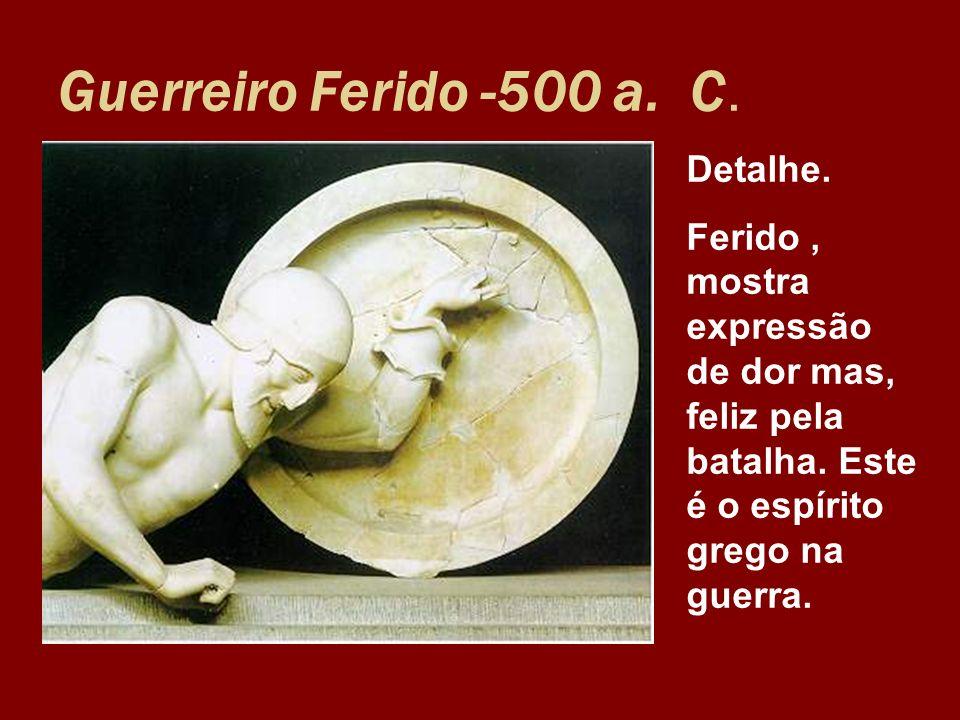 Guerreiro Ferido -500 a. C. Detalhe.