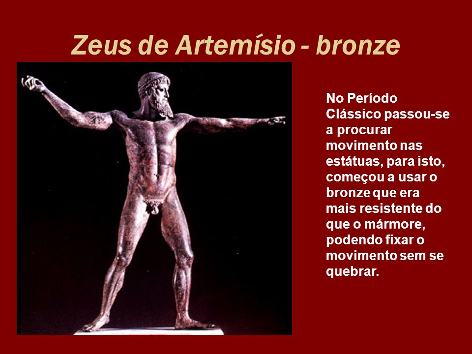 Zeus de Artemísio - bronze
